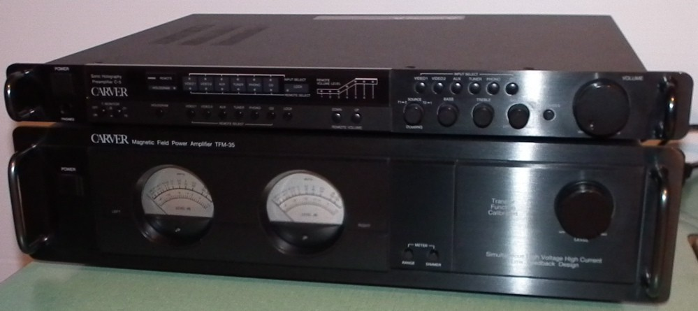 sold carver pre amp and amplifier set 600 and yamaha