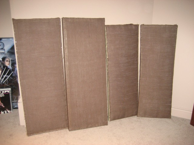 Diy Sound Absorbing Panels With Fiberglass And Burlap For