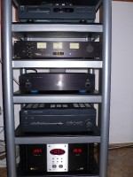 X30, NAD C542, Magnum Dynalab FT101A,  Equitech 1.5 Son of Q, NAD C372, Monster AVS2000