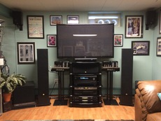 9.2 surround....  McIntosh 75's  Crown 4150's Integra 80.3  Monitor Audio & Velodyne speakers
