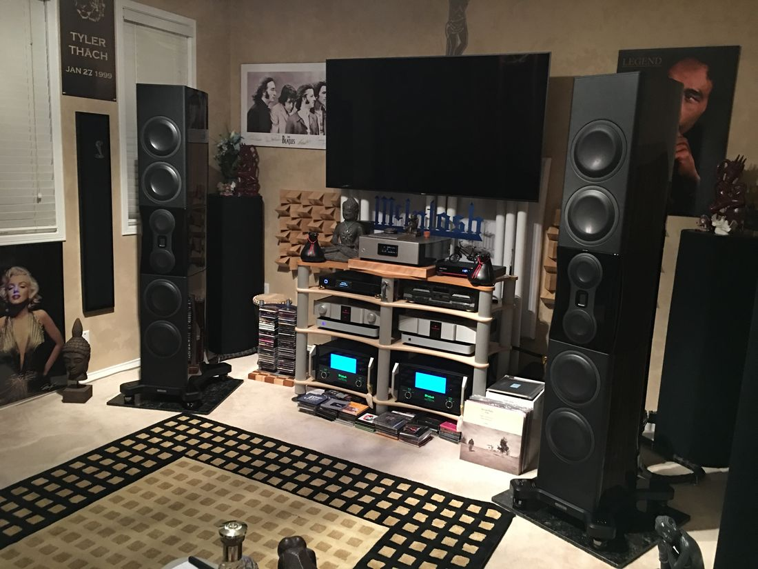 Monitor Audio Platinum PL500 ii with McIntosh MC601 and Karan KA L Reference MK III