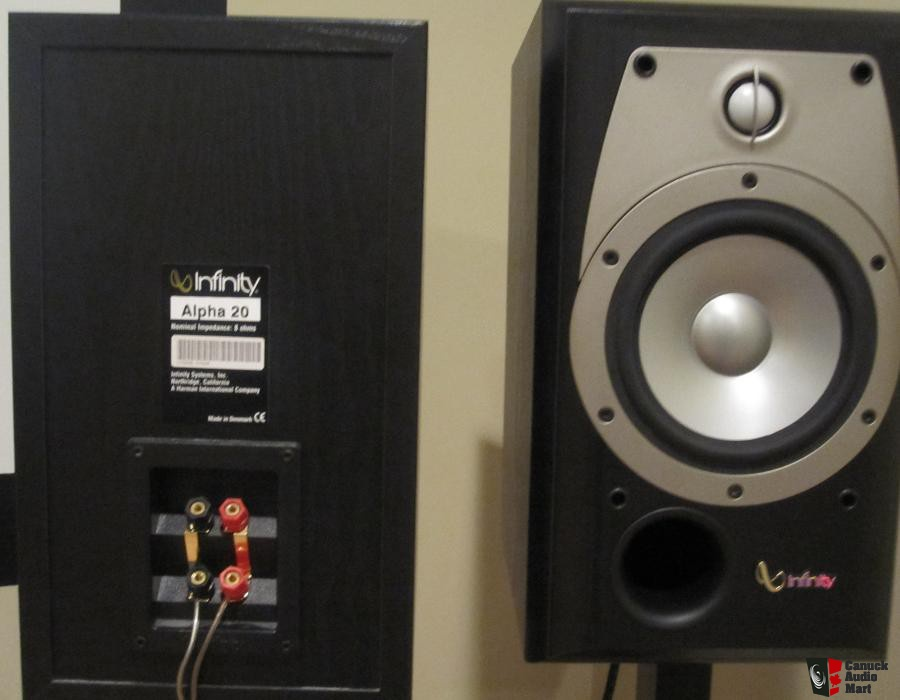 Infinity Alpha 20 Bookshelf Speakers For Sale Canuck