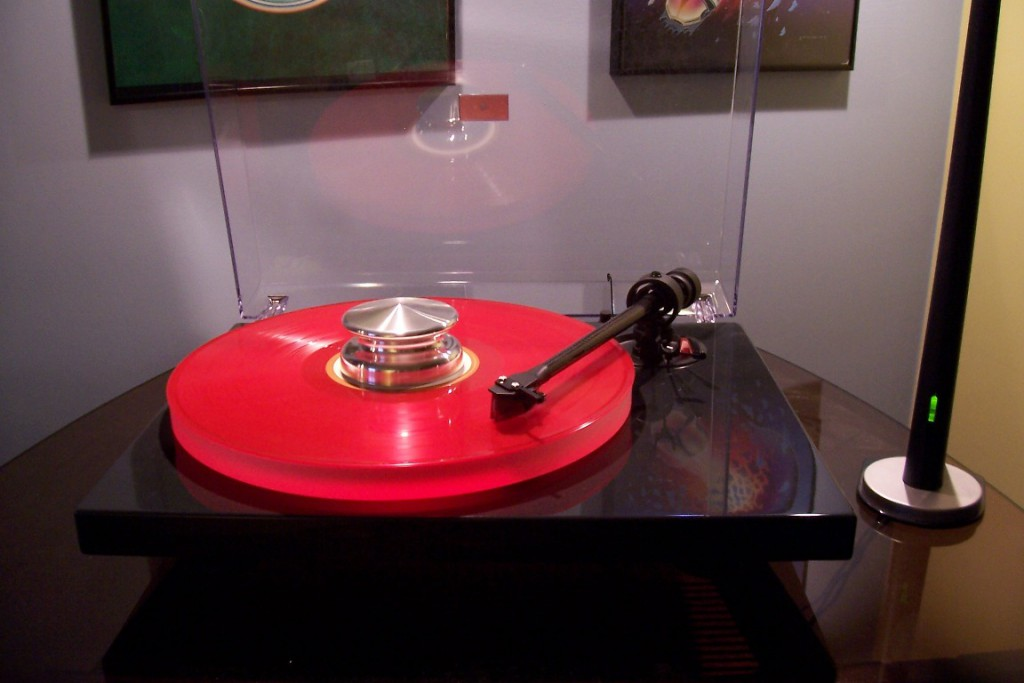 pro-ject turntable (with RED vinyl LP on it - cool)
