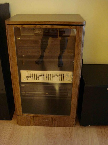 Technics Stereo Cabinets Oak And Black 21 Quot Wide X 36 Quot X