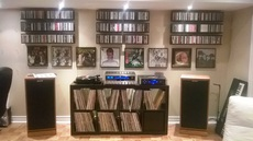 Marantz 2325 Receiver, Klipsch Forte Speakers, Emotiva ERC-1 CD Player and Project Turntable