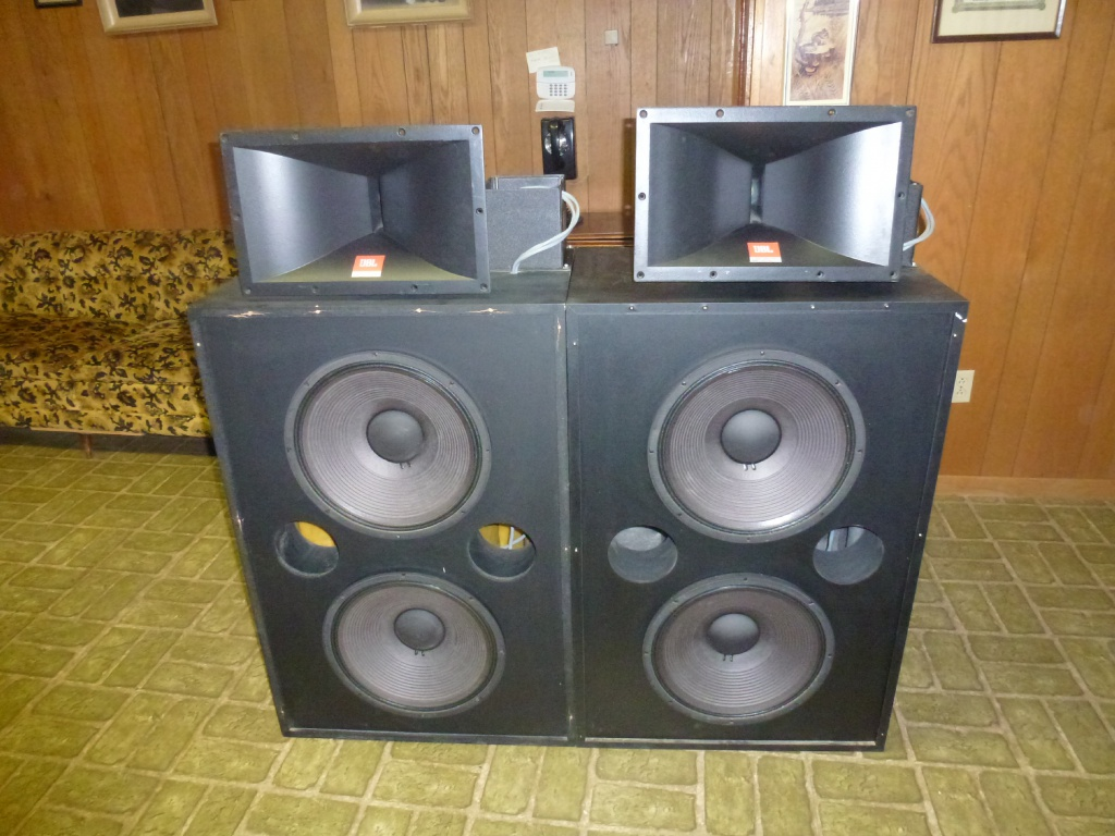 for sale pair jbl professional 4508 theatre speakers jbl 2225h woofer jbl 2445j driver jbl 2380. Black Bedroom Furniture Sets. Home Design Ideas