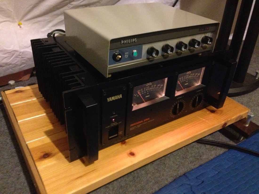 Yamaha p2200 / Philips AG9016 mu follower preamplifier
