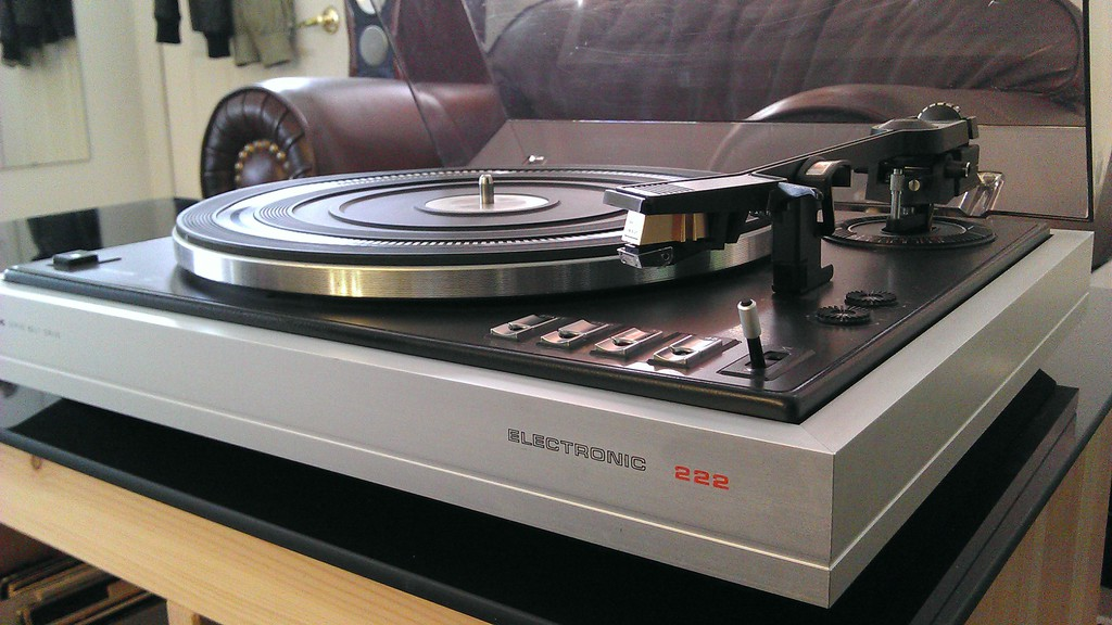 Rare Philips Ga 222 Turntable 2 Speed Belt Drive Fully