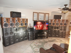 40 speakers and 16 amps....  these are the fronts...