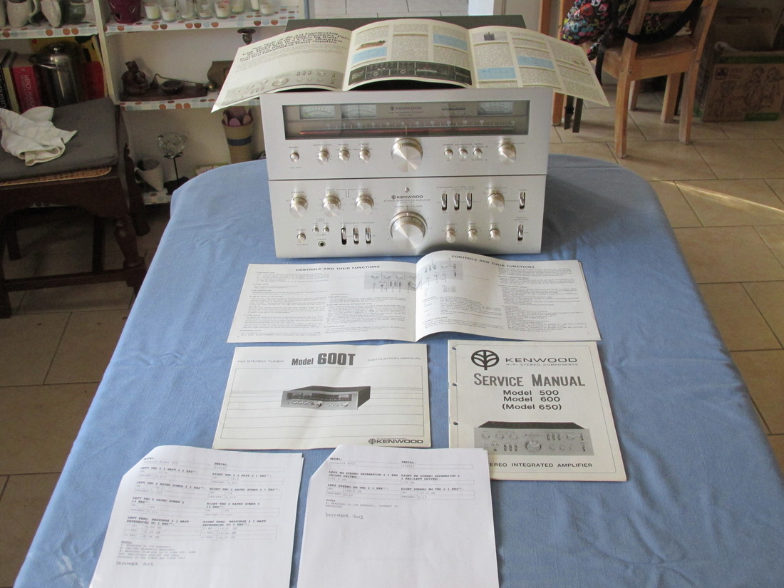 1970's glory! Kenwood Supremes; Model 600 integrated and 600T super-tuner complete with paperwork