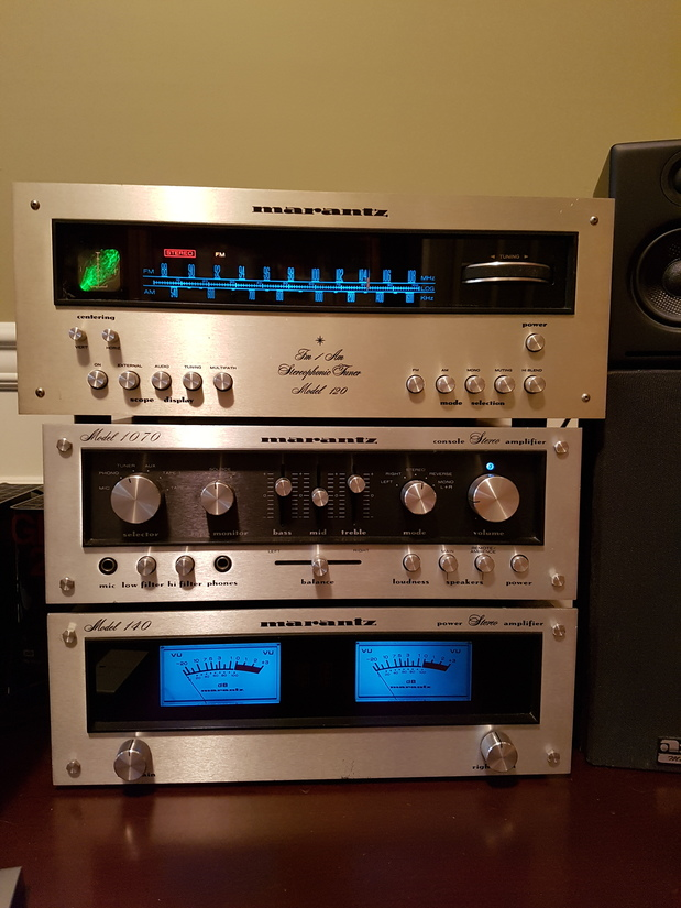Marantz 140 power amp, 1070 integrated, 120 tuner (w/scope)