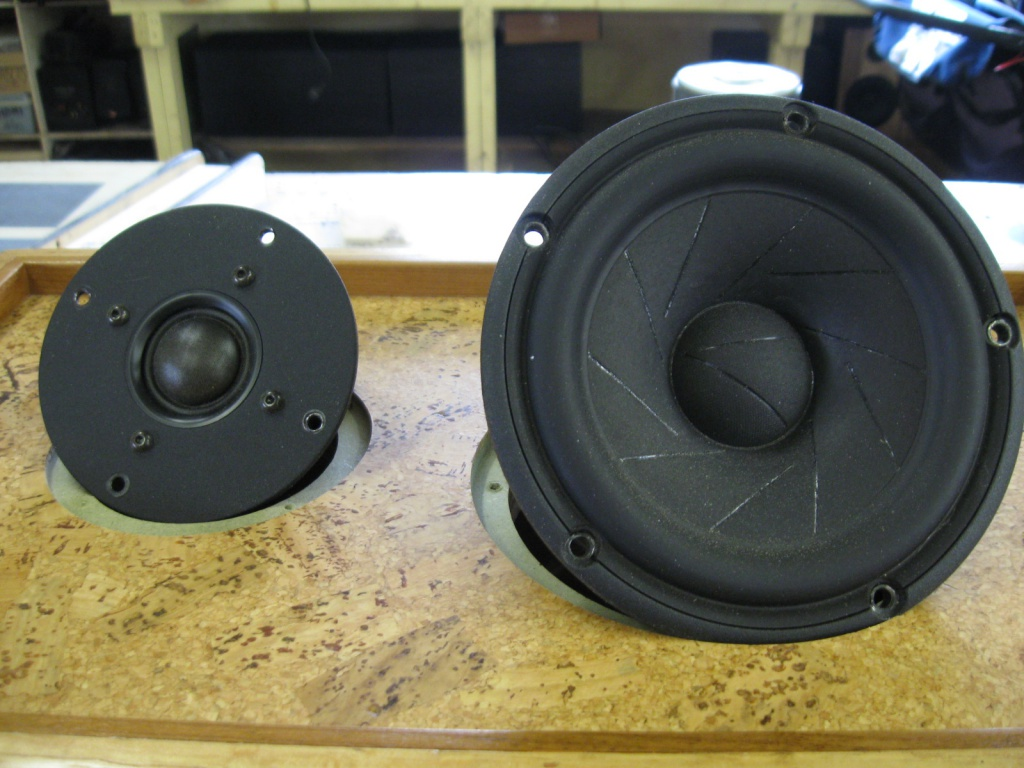 Scan Speak Revealtor woofer and non Revealtor tweeter that will reside in my Sonus Faber Cremonia Auditor Tributes