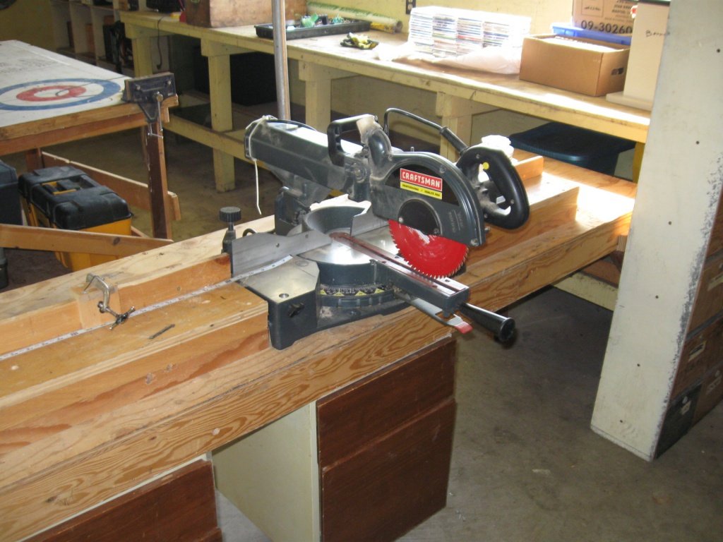 "mitersaw that will crosscut 13"" dead straight"
