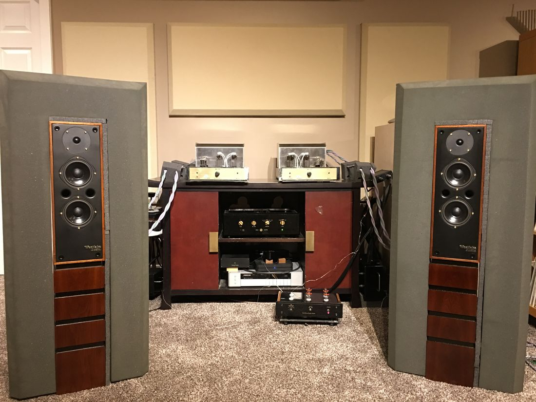 McAlister Audio MB-130 Mono-Blocks Driving the Westlake Audio BBSM-4 VNF Studio Reference Speakers