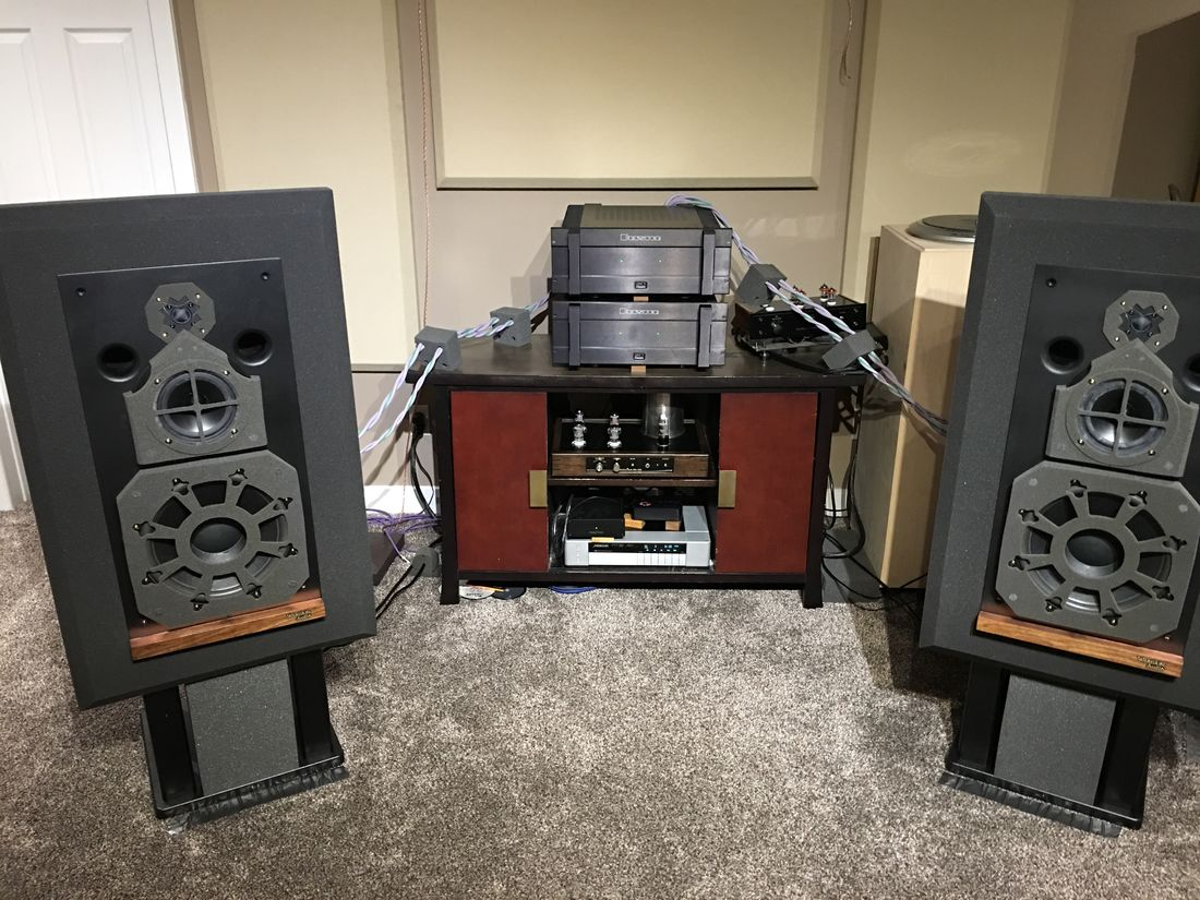 Westlake Audio Lc3W12V driven by two Bryston 14B ST in vertical bi-amping and McAlister Audio MA-10B tube preamplifier