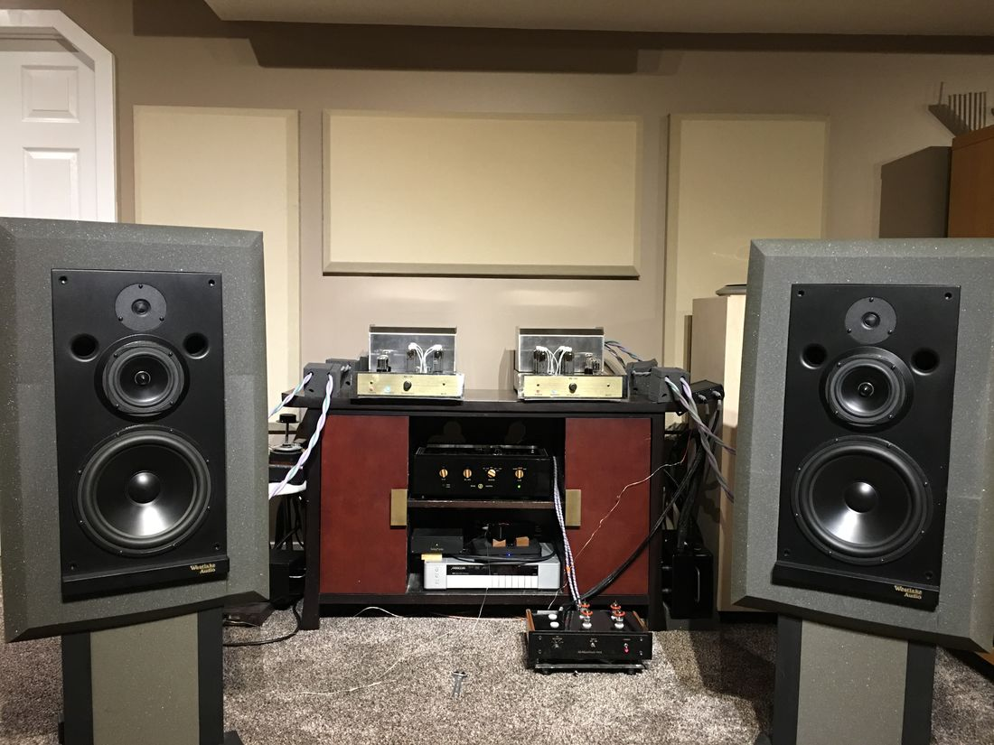 McAlister Audio MB-130 Mono-Blocks Driving the Westlake Audio Lc3W10V Speakers