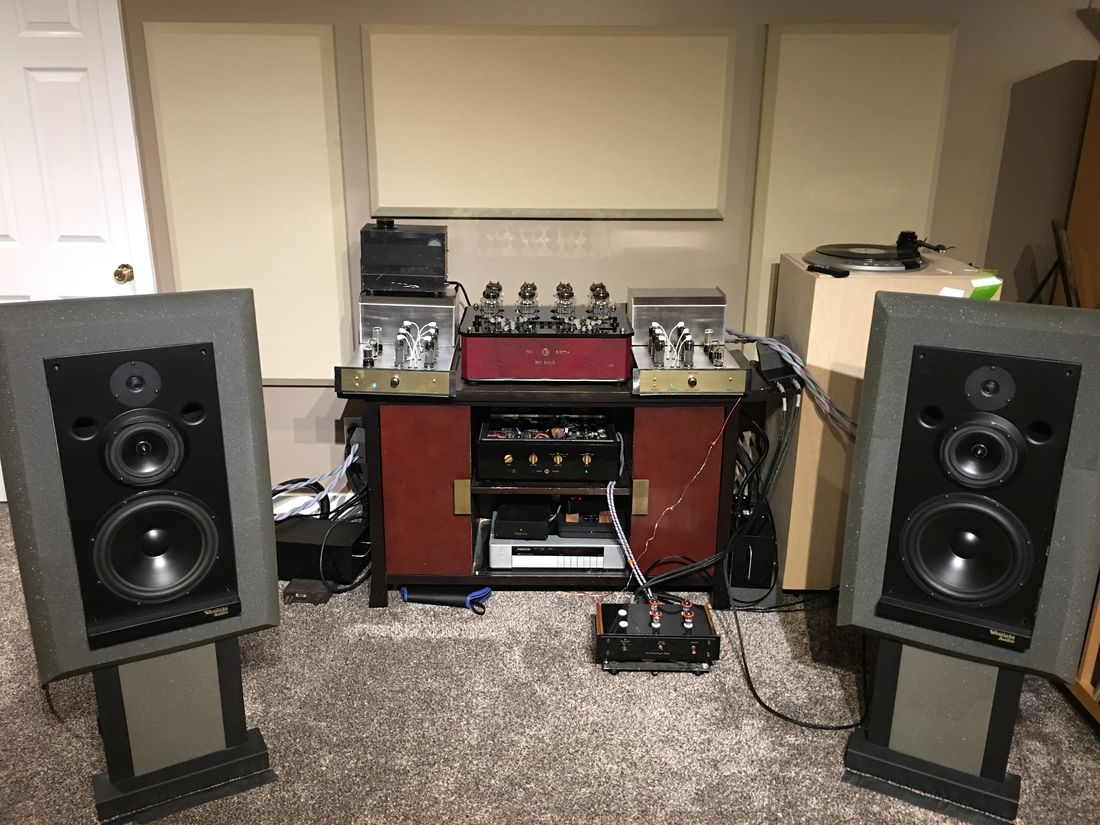Bi-Amping The Westlake Audio Lc3W10V with Joule VZN-80 OTL for the mids and McAlister MB-130 for the bass - the heat is on...:-)