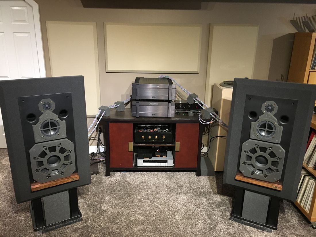Westlake Audio Lc3W12V driven by two Bryston 14B ST in vertical bi-amping