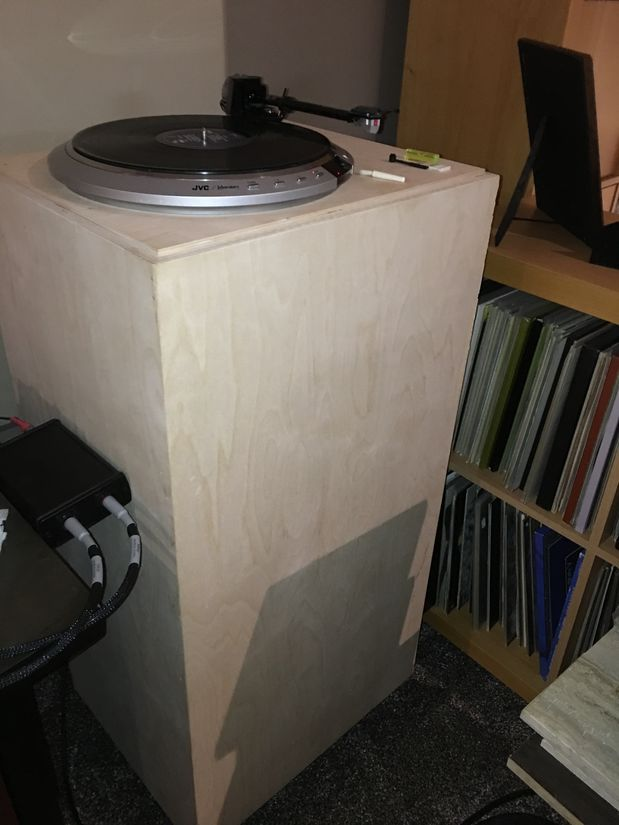 "Turntable - JVC TT-101 drive unit, Zeta tonearm and EMT HSD-6 cartridge with 40"" SOLID plywood custom built plinth (Moving is not an option...)"