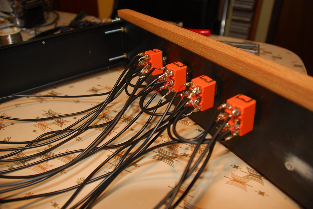 Four 2 Position Switches Wired Up