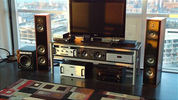 Old System: Weiss, Krell, Audio Research, Revel, JL Audio