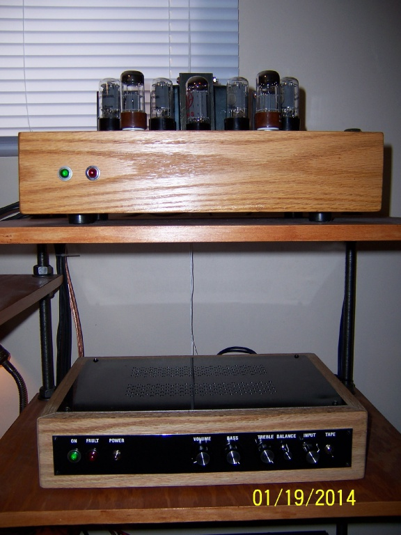 Custom 6V6PP Stereo amp and preamp I built.