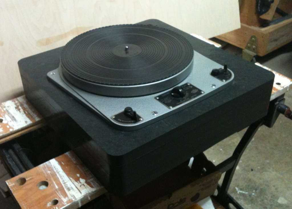Early Garrard 301 Grease in Stacked Slate Plinth Left Side