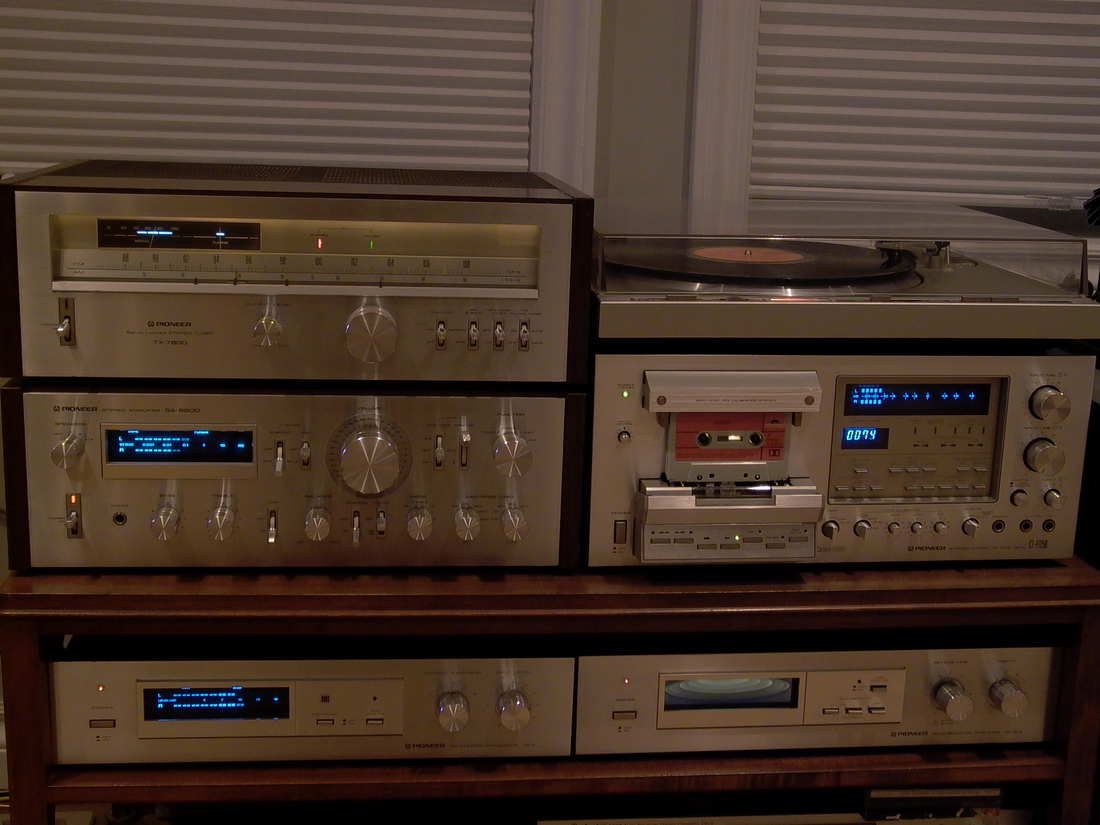 VINTAGE 1980 PIONEER SYSTEM IN THE LIGHT