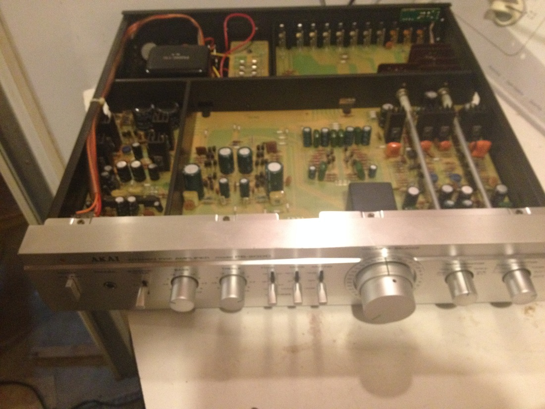 akai ps-200 c preamp front top off