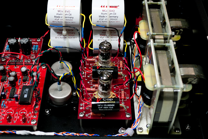 AudionoteKit DAC Modified, cathode bypass cap upgraded to Mundorf Evo Oil