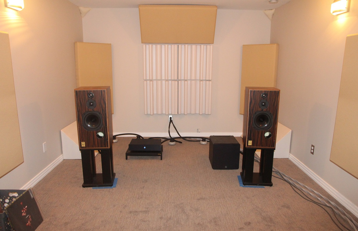 Harbeth SHL-5 speakers, Hypex Ncore NC400 based amplfier
