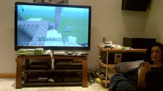 My kids basement gaming system