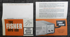 Fisher MPX-100 stereo FM decoder