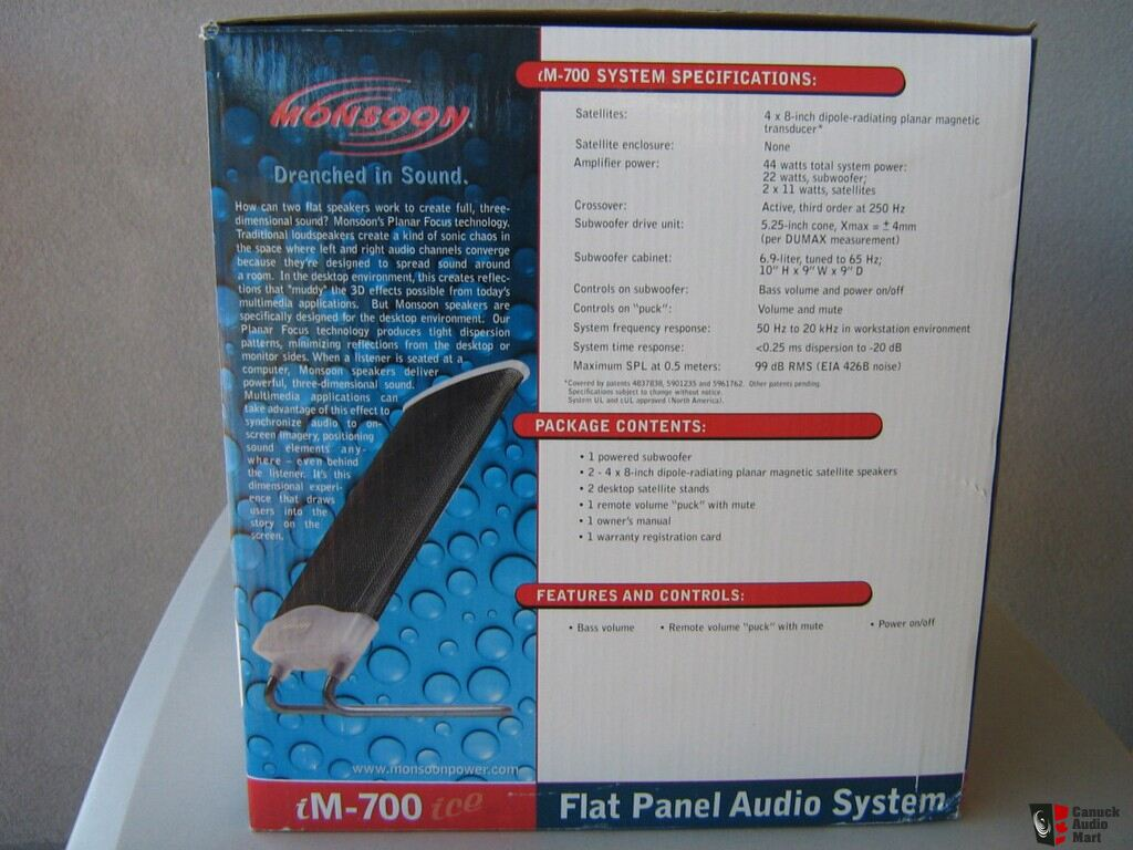monsoon planar magnetic computer speakers with spare panel new photo 1011490 canuck audio mart