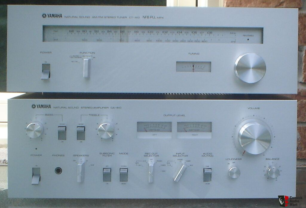 Yamaha Ca 610 Stereo Integrated Amplifier Yamaha Ct 410