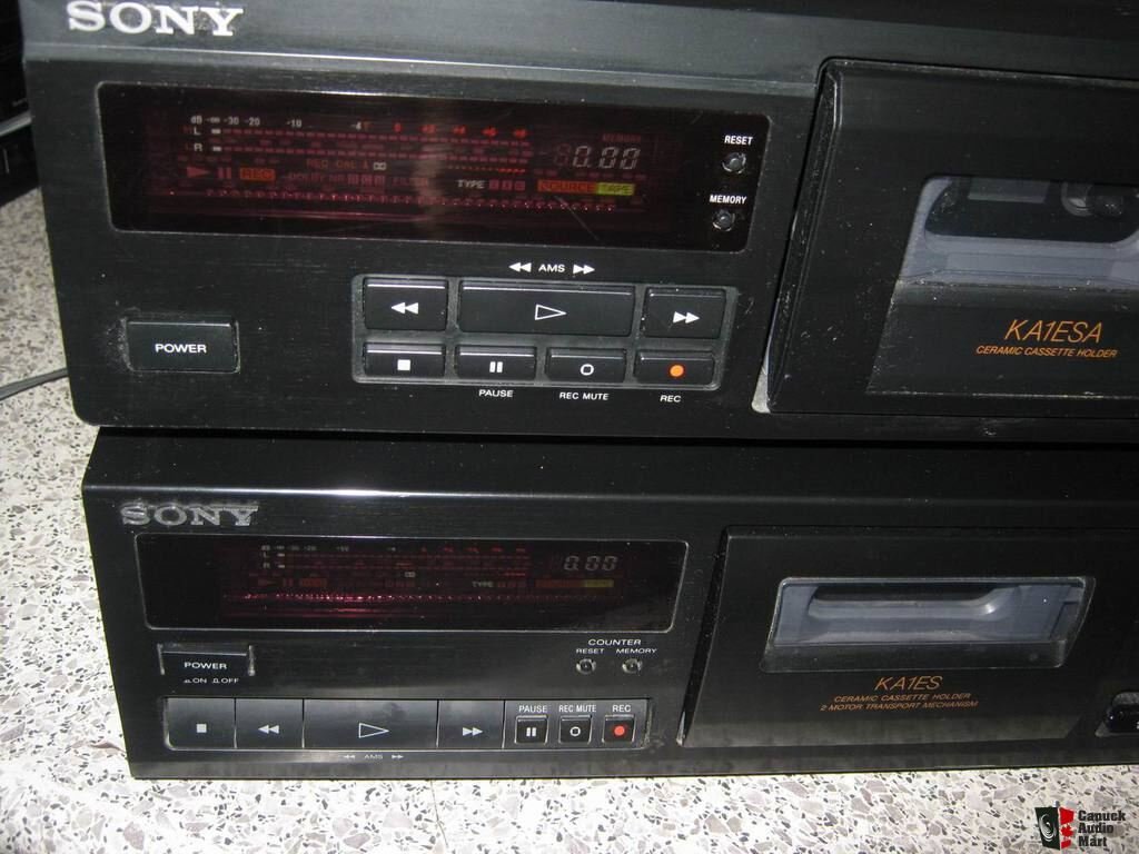 Sony TC-KA1ESA & TC-KA1ES 3 head cassette decks Photo