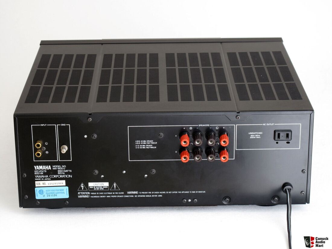 yamaha mx 600u stereo power amplifier photo 1064737