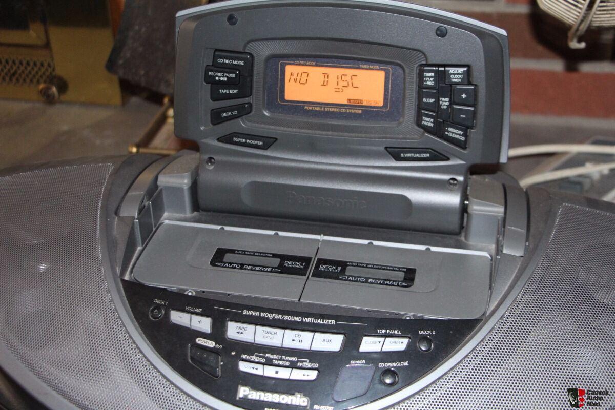 Panasonic Rx Ed707 Cd Receiver Cassette Tape Player Quot Boom