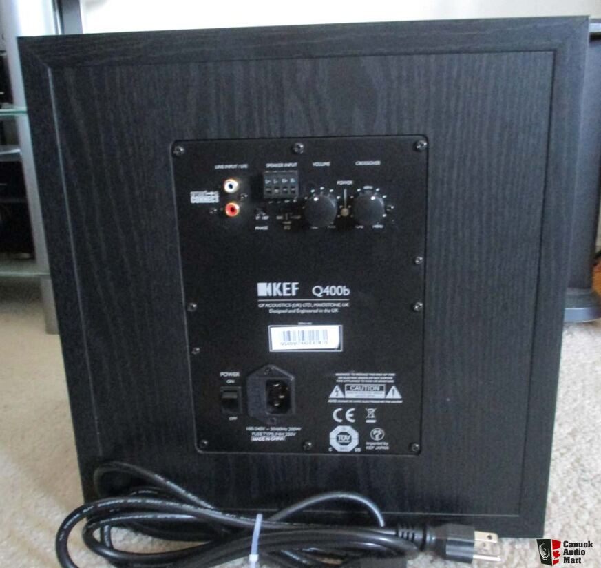 Kef Q400b Front Firing Powerful Subwoofer Photo 1117026