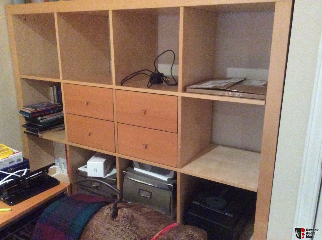 Ikea expedit shelf units 2 with cd drawers free until - Mobile stereo ikea ...