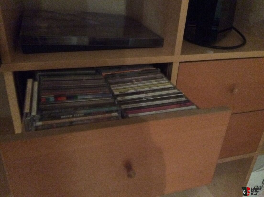 Expedit Cd ikea expedit shelf units (2) with cd drawers free until monday photo