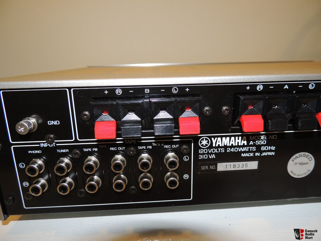 Vintage yamaha a 550 stereo integrated amplifier photo for Yamaha amplifier spotify