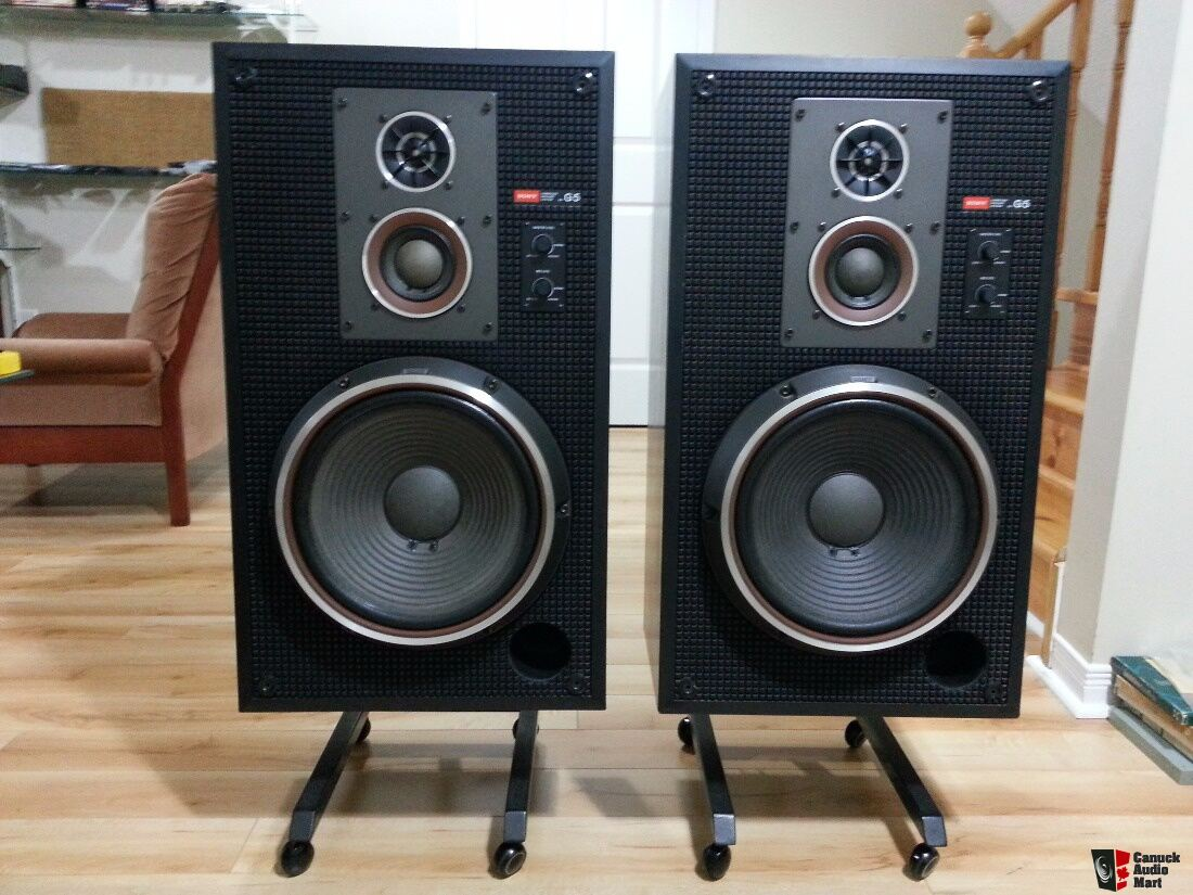 Vintage And Rare Sony Ss-g5 3-way Carbocon Speakers - Sold To Keith Photo  1160841