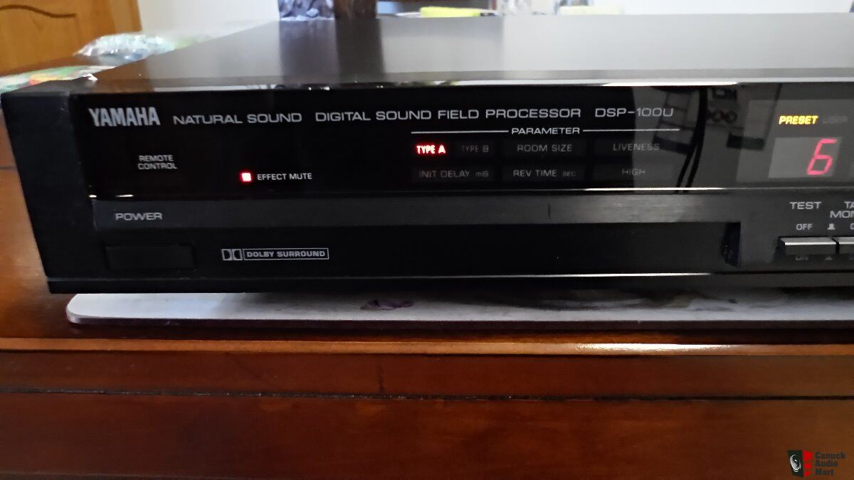 yamaha dsp 100u surround sound processor photo 1165650