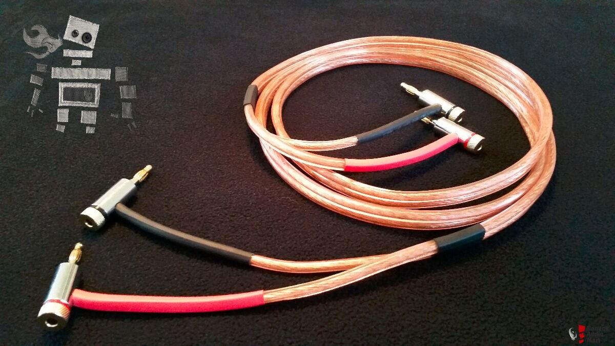 12 gauge OFC speaker wires (5\'-8\'\') terminated with banana plugs ...