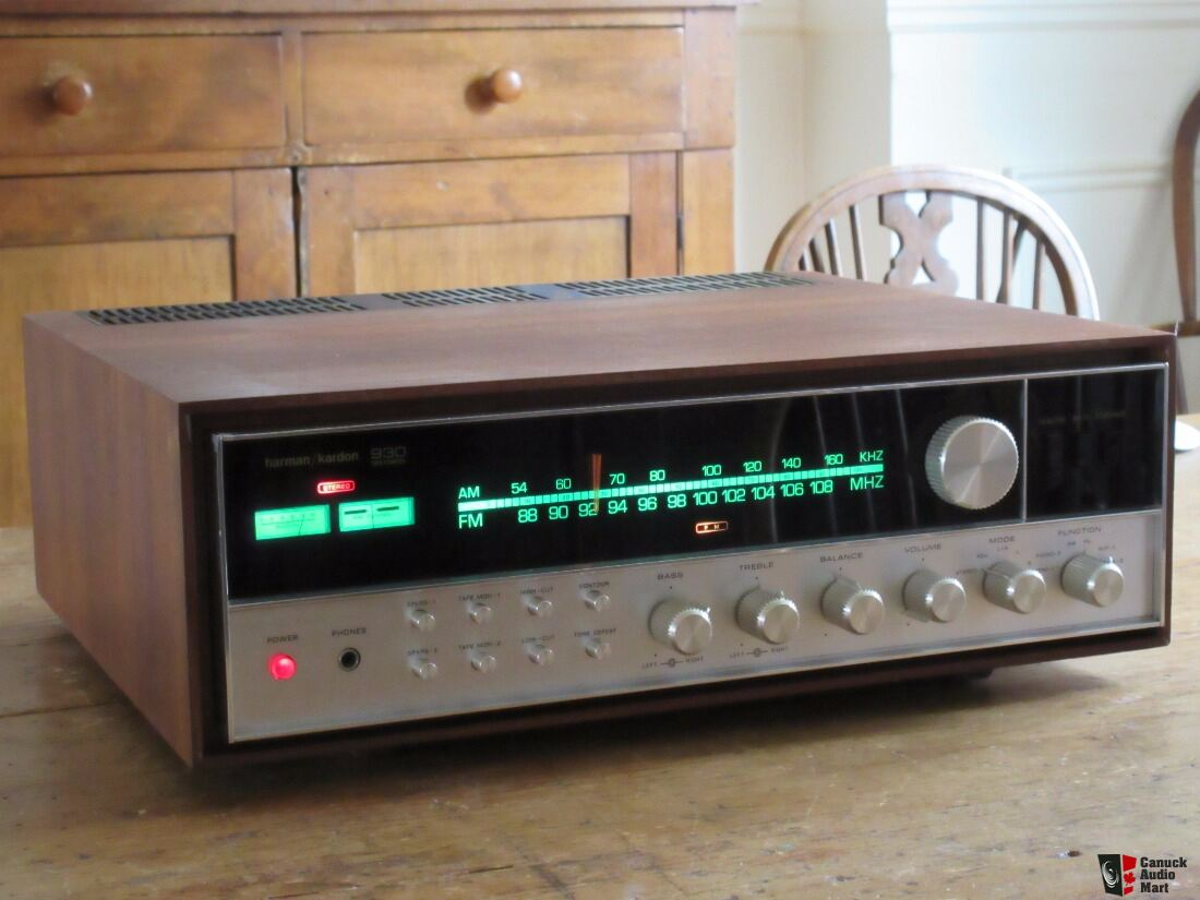 Harman Kardon 930 Twin Powered Receiver with Wood Cabinet