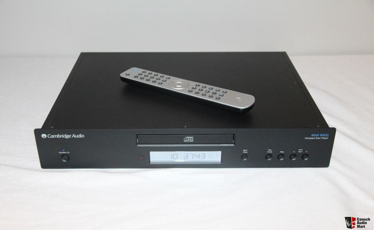 Cambridge Audio Azur 640C V2 - CD Player in Black - Original Box and Remote