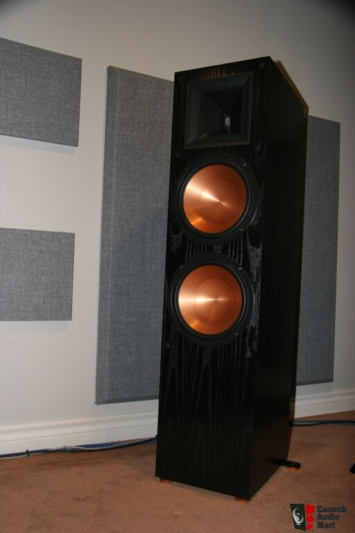 klipsch rf 7 ii black real wood veneer speakers photo. Black Bedroom Furniture Sets. Home Design Ideas