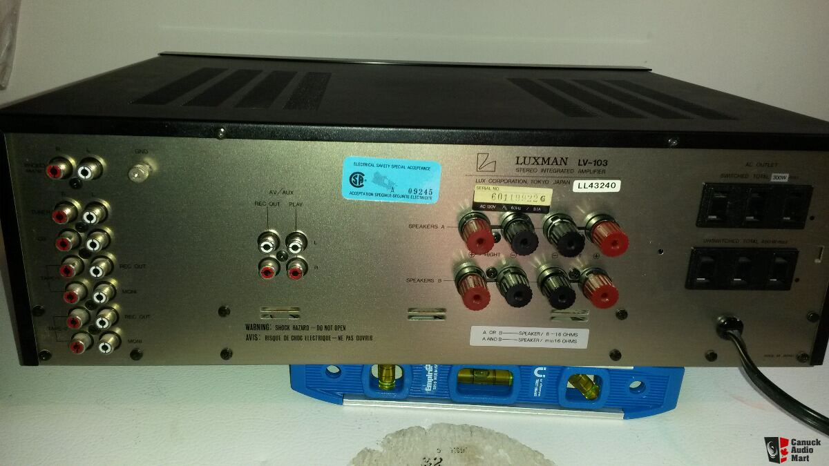 Luxman LV103 Hybrid Tube & Mosfet Integrated amp with