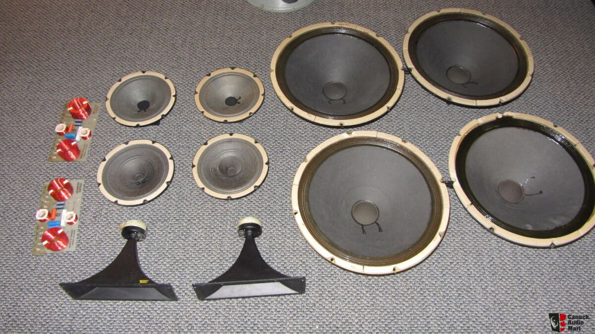 full set of Heppner drivers and crossover for a speaker project
